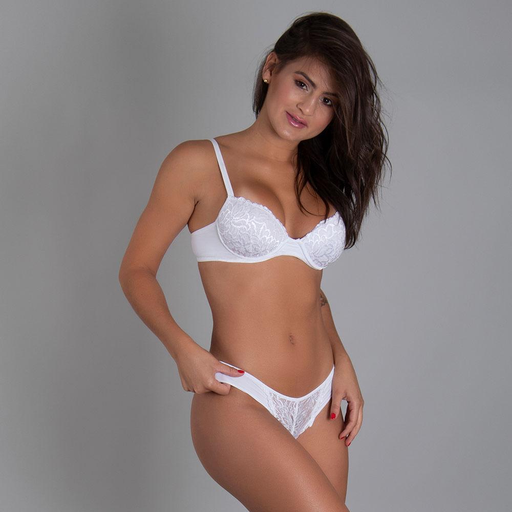 Calcinha Biquíni High Luxury Branco EG