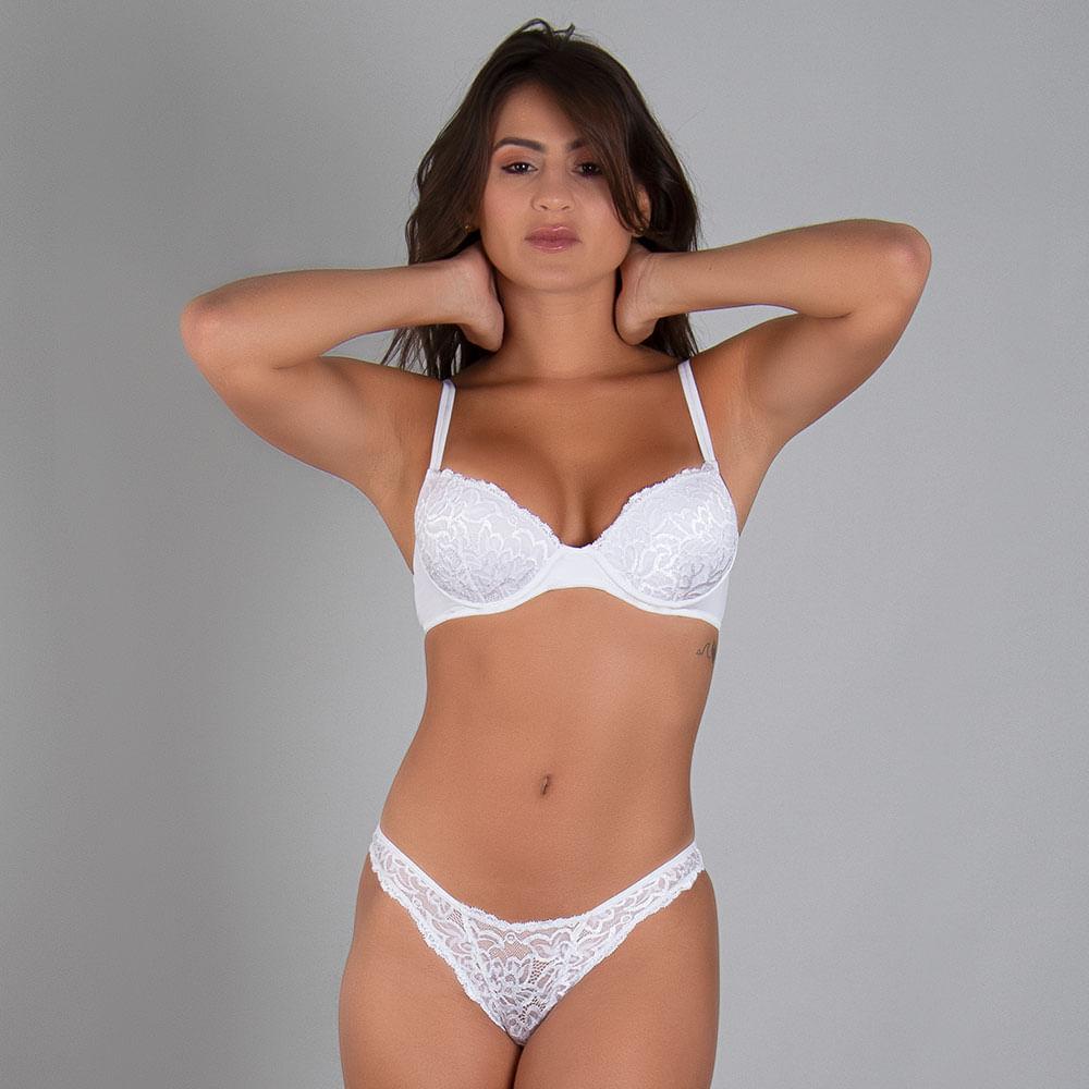 Calcinha Tanga High Luxury Branco EG