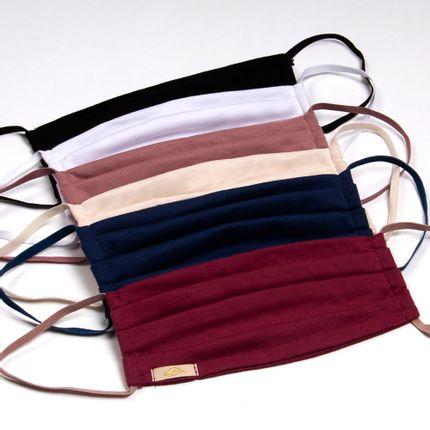 Kit-2-Mascaras-de-Protecao-Lavavel-Branco-Preto-Rose-passe-Perle-Navy-Blue-e-Grenat-com-Blush