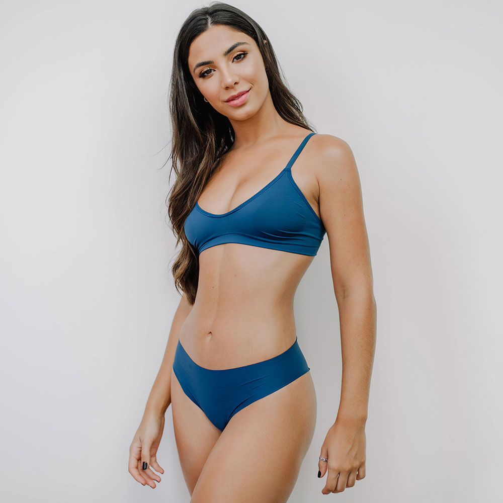 Calcinha Fio Sweet Skin Navy Blue G