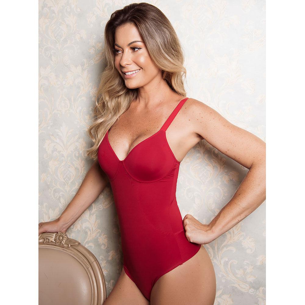 Body Modelador Fio Sem Bojo Sweet Skin Cereja G